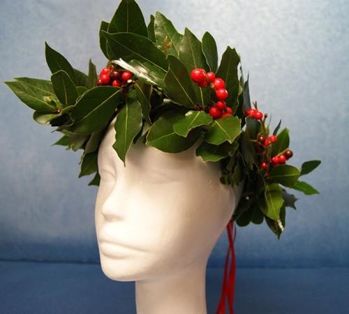 Coroncina Alloro regalo laurea corona alloro coroncina rosso compra on-line  artefiori milano mazzo di fiori bouquet bfc41c73f2c0