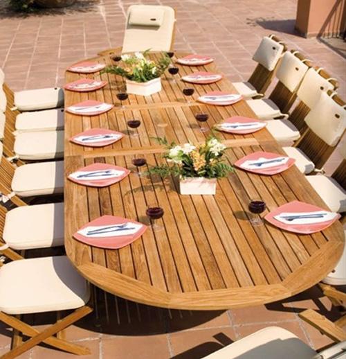 Arredo da giardino di design compra artefiori genova for Tavolo legno teak